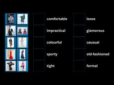 style adjectives - fashion world
