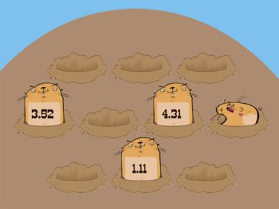 Decimal or not whack a mole - Place value recognition
