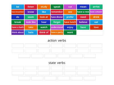 Action vs State verbs