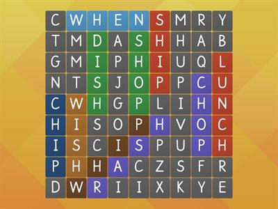 Digraph (sh, ch, wh) Wordsearch