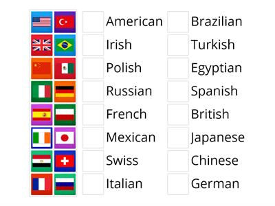A0-A1 Flags and nationalities