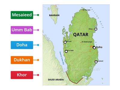 Locate the following places in Qatar