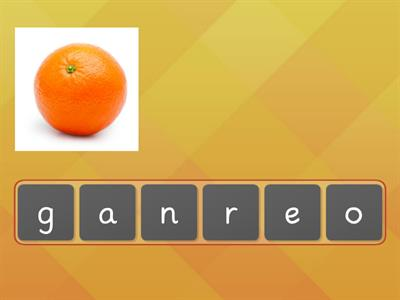 HP2 U6 FRUIT & VEGETABLES Anagram