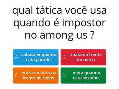 Quiz Among Us Recursos Didaticos