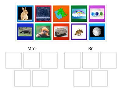 Beginning Sound Sort - m,r