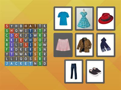 CLOTHES WORDSEARCH 2nd