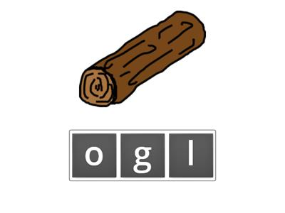 Unscramble the letters to create words with the short a and o sounds.