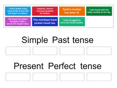 Present perfect tense Group sort