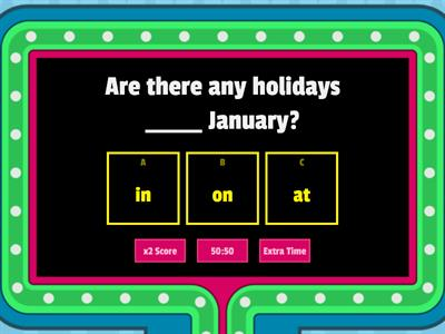 PREPOSITIONS IN ON AT