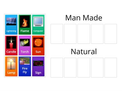 Natural Manmade Light Sources Teaching Resource