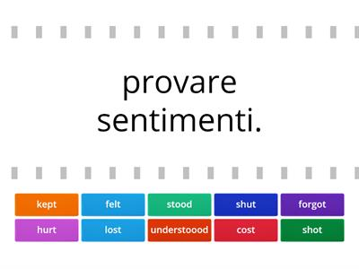 verbo in italiano--> verbo inglese al simple past