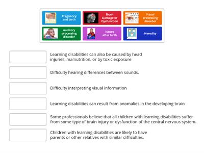 Copy Develop an awareness of the main causes of learning disability