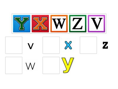 Lowercase/Uppercase V-Z