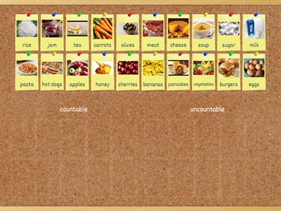 Food: countable/uncountable