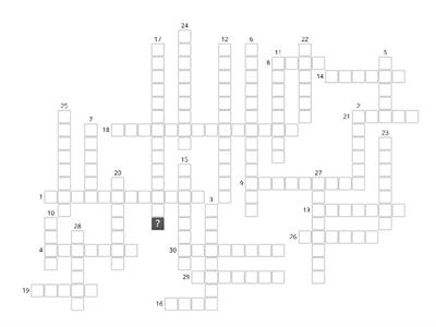 Spanish crossword