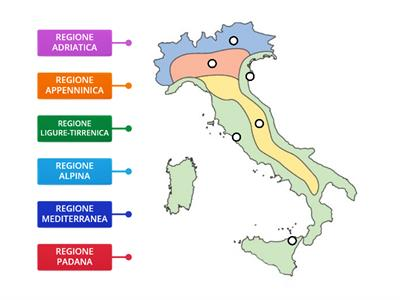 Italia Climatica Cartina.Cartina Italia Clima Risorse Per L Insegnamento