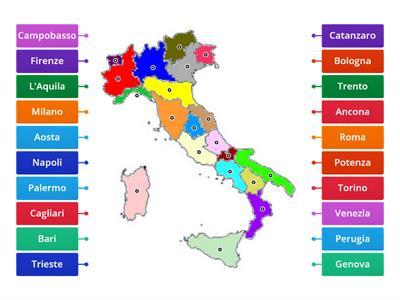 Cartina Italia Regioni E Capoluoghi E Province.Regioni E Capoluoghi Italia Risorse Per L Insegnamento