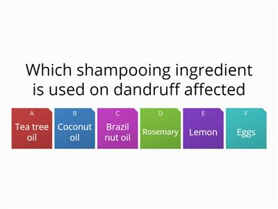 Which shampooing ingredient is used on dandruff affected