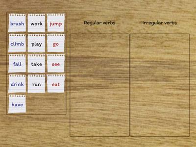 Regular or Irregular verbs