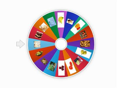 Super Minds 2 Unit 4 food wheel