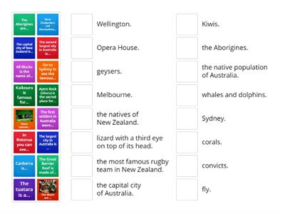 Australia and New Zealand (matching activity)