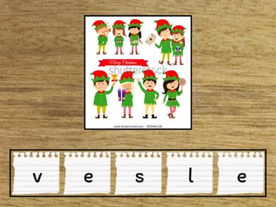 Christmas vocabulary beginner