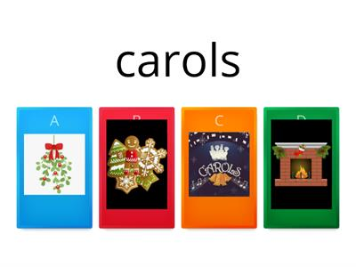 Copy of Christmas words - Match the pictures2