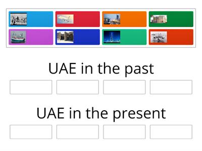 Compare between the past and present life in the UAE
