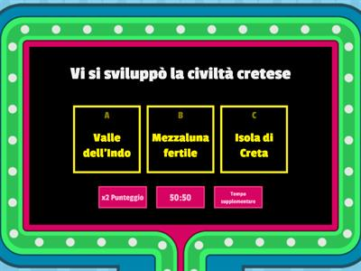 Copy of Gameshow quiz: la civiltà cretese