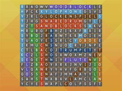 Instrument Word Search