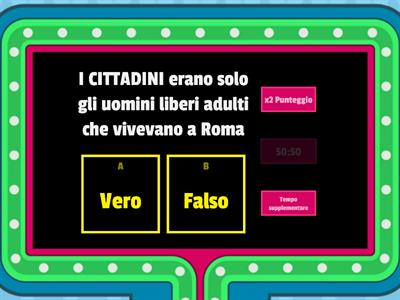 ROMA, monarchia e Repubblica (Gameshow quiz)
