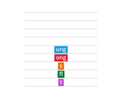 Word builder -ong, ung
