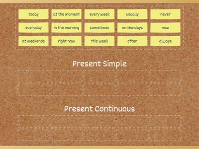 Adverbials: Present simple or continuous