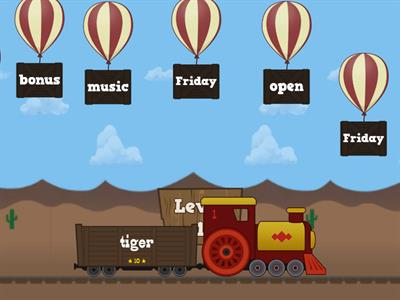 tiger/mon/rabbit words balloon pop
