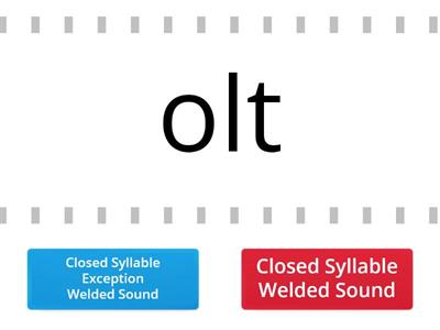 2.4 - Closed Syllable Welded Sound vs. Welded Sound (Closed-Syllable Exception)