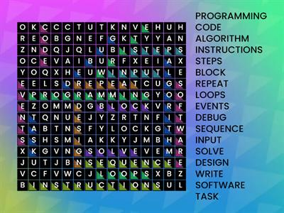 Programming Wordsearch