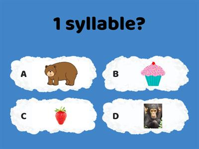 Syllable Quiz 2