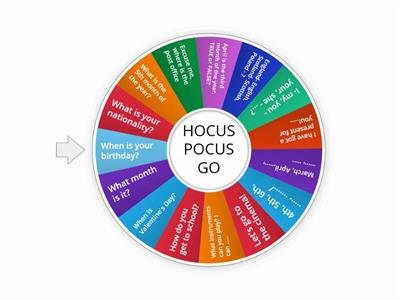Hocus Pocus GO unit 4-5 mix  small talk