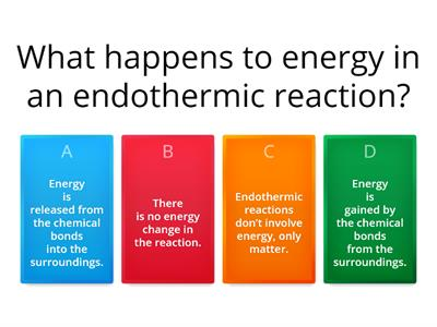 Review Questions for Reaction Energy