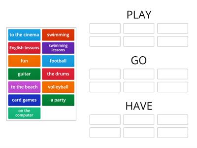 GO - HAVE - PLAY  Activities