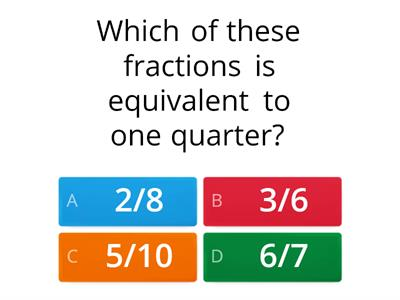 Which is the equivalent fraction?