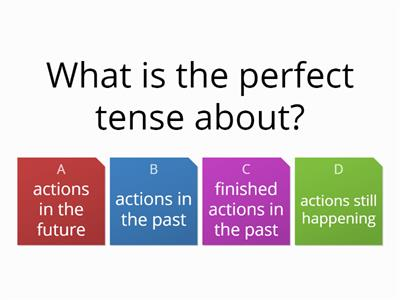 Haythorne French quiz perfect tense revision