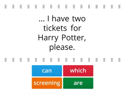 Buying a ticket at the cinema