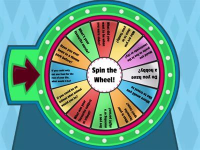 Spin the Wheel Ice Breaker