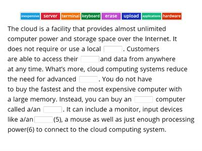 B2-RD&WR-SCI-MED-Text 20-Cloud Computing-Vocabulary Worksheet-Part1