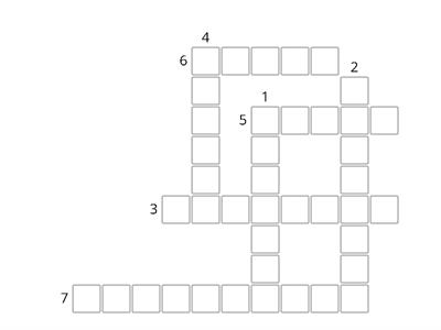AQA Higher Question 3 crossword