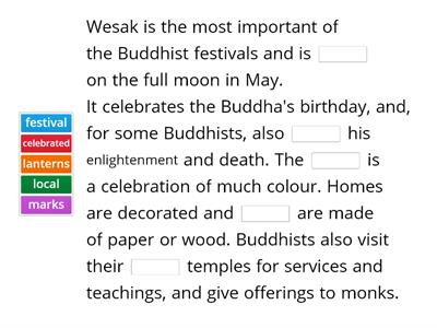 Wesak Buddhist holiday
