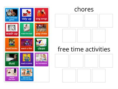 Chores/free time activities