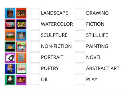 #4 - unit 6 Vocabulary (Art and Books)