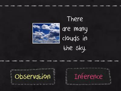 Observation or Inference? Match Up